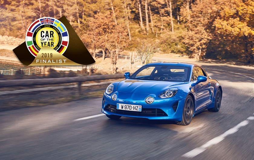 "Alpine A110 im Finale bei der Wahl zum ""Car of the Year 2019"""